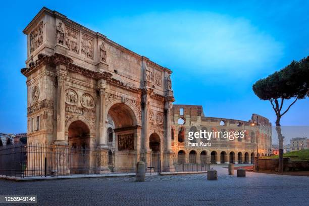 arch of constantine, rome italy - roman forum stock pictures, royalty-free photos & images