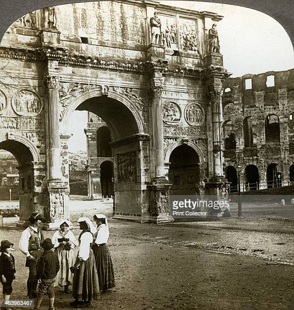 Arch of Constantine Rome Italy The Arch of Constantine is a triumphal arch in Rome situated between the Colosseum and the Palatine Hill It was...