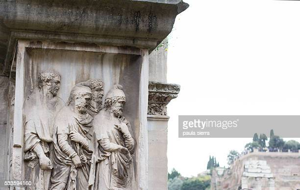 arch of septimius severus - arch of septimus severus stock pictures, royalty-free photos & images