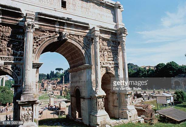 arch of severus - eric van den brulle stock pictures, royalty-free photos & images
