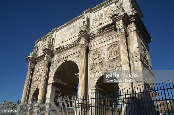 Arch Of Titus Against Clear Blue Sky In City
