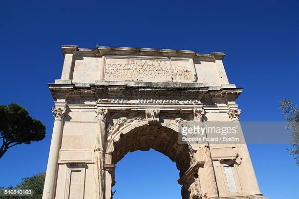 Arch Of Titus Against Clear Sky