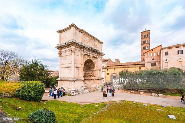 Arco de Tito em Roma, Itália