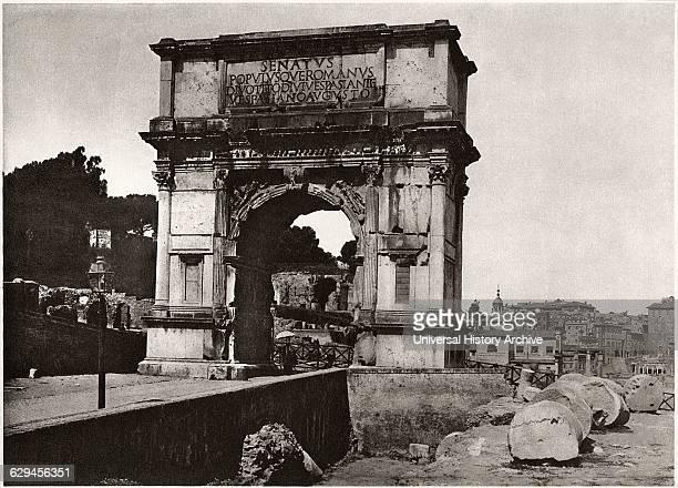 Arch of Titus Rome Italy circa 1910