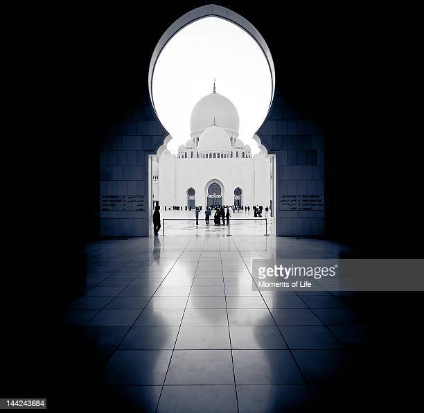 arch symmetry - mosque stock pictures, royalty-free photos & images