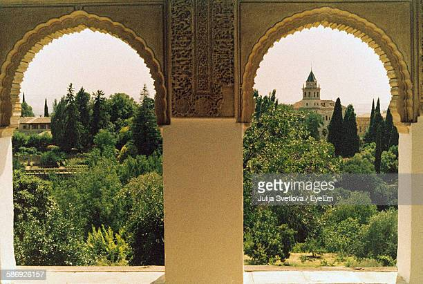 Arch Window At Alhambra