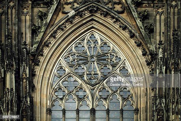 arch window of cologne cathedral - cologne cathedral stock photos and pictures