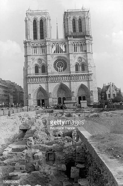 Archaeologic Excavations On Notre-Dame Square, Paris, In 1969