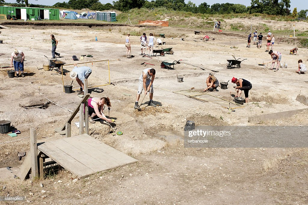 Archaeological dig : Stock Photo