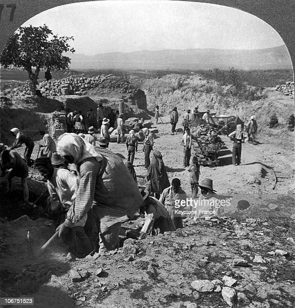 Archaeological Digs In Corinth Greece Around 19001920 The Digs Were Organized By The American School For Classic Studies Corinth Was Located Between...