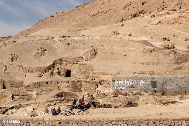 Archaeological excavation in the Valley of the Kings, Egypt