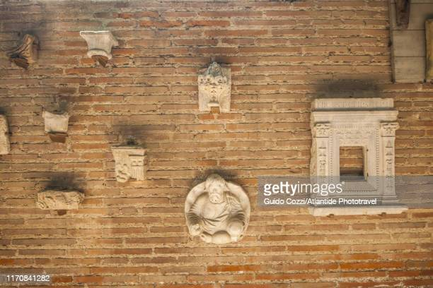 archaeological fragments at basilica of sant'apollinare in classe - image stock pictures, royalty-free photos & images