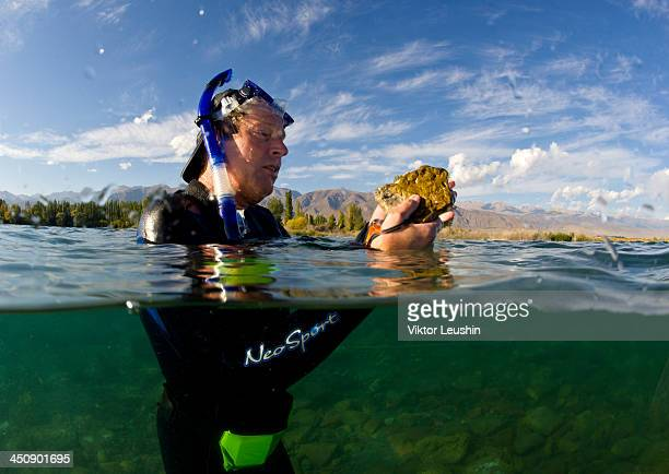 Archaeological Issyk-Kul lake National Geographic expedition