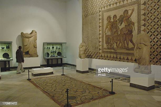 Archaeological Museum of Seville. Roman Art Room with mosaic of Bacchus , from Ecija. Andalusia. Spain.