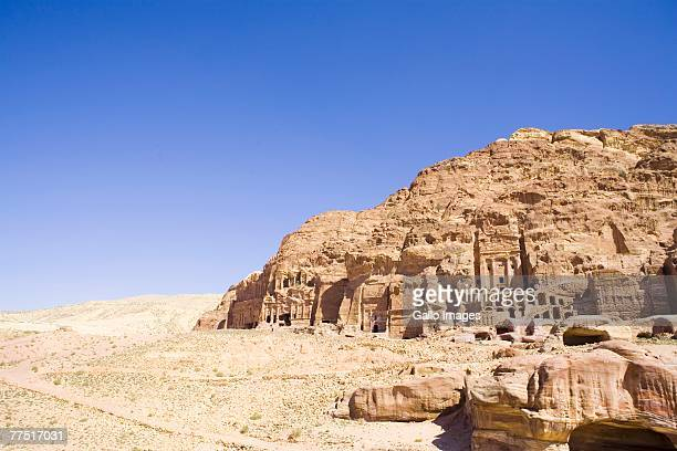 Archaeological Remains of Petra.  UNESCO World Heritage Site. Jordan, Middle East