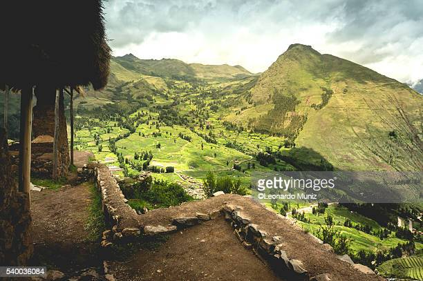 Archaeological ruins of Pisac, Cusco.