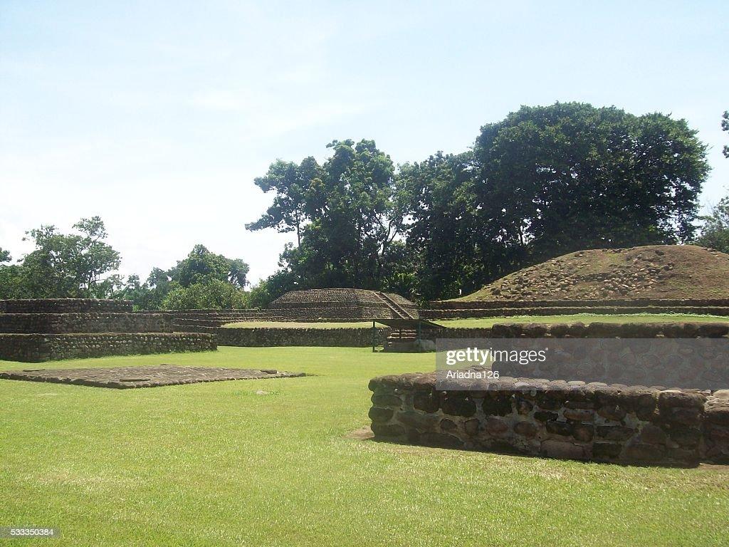 Sitio arqueológico de Izapa en Chiapas, México : Foto de stock