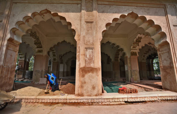 IND: ASI Carries Out Restoration Of Mughal-Era Parts Of Red Fort
