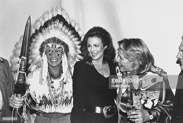 Archaeologist Iris Love TV personality Phyllis George and gossip columnist Liz Smith attending the annual Wild West fundraiser for Literacy...