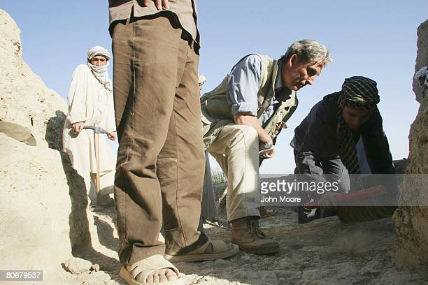 Archaeologist Pascal Mongne supervises the excavation of an ancient wall on October 12 2006 at Balkh Afghanistan The French Archaeological Delegation...