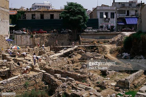 Archaeologists Excavating Building in Athens