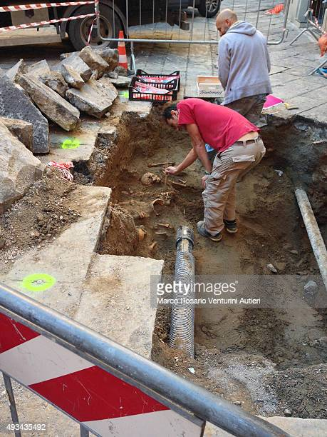 Archaeologists working at a burial site discovered in city centr