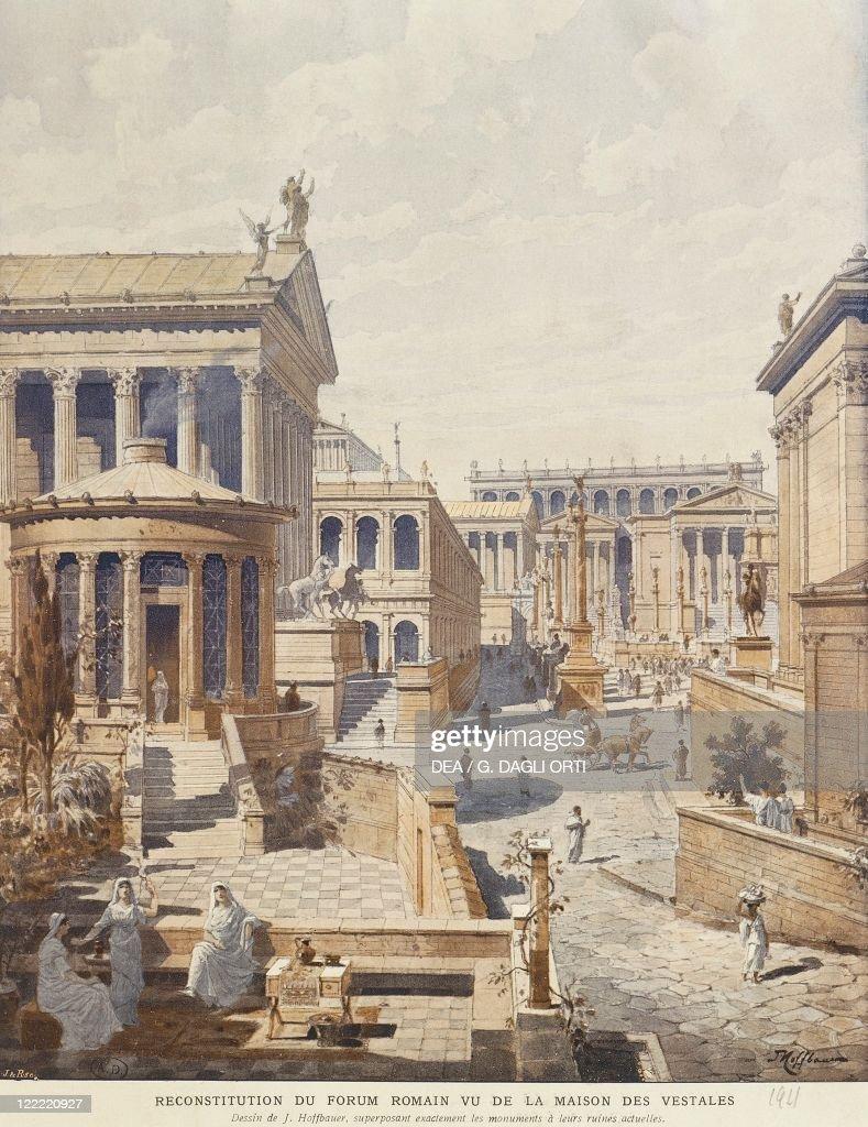 Maison En Ruine Dessin archaeology - roman civilization. rome. reconstructed roman