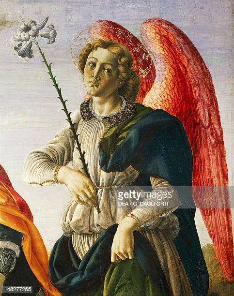 Archangel detail from Three archangels and Tobias ca 1470 by Francesco Botticini tempera on panel 153x154 cm Florence Galleria Degli Uffizi