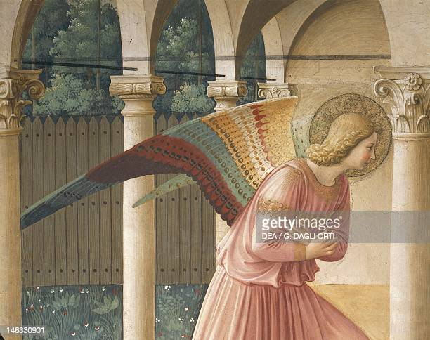 Archangel Gabriel detail from The Annunciation 14371445 by Giovanni da Fiesole known as Fra Angelico fresco Cells of the first floor Convent of St...