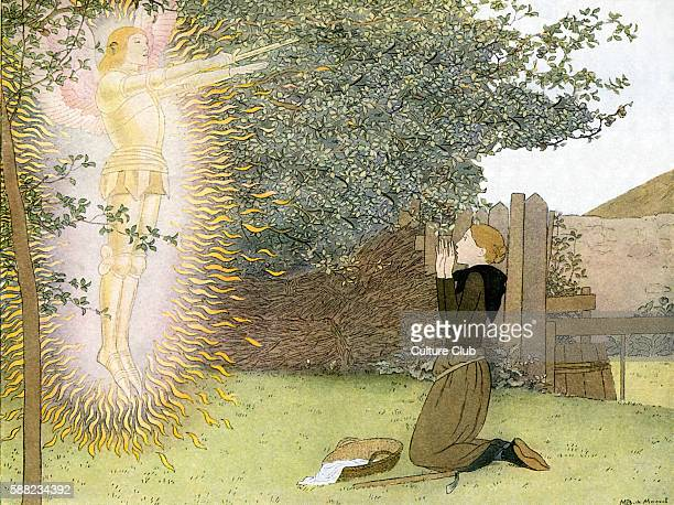 Archangel Michael appears to Joan of Arc in her fathers garden Aged 13 years old As a teenager Joan was reported to have heard voices of Saints...