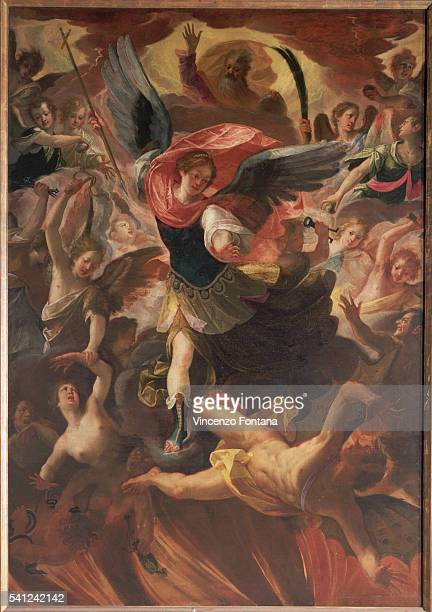 Archangel Michael in Combat With Lucifer by Antonio Maria Viani