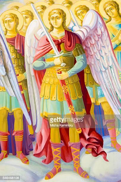 archangel michael - ukrainian angel stockfoto's en -beelden