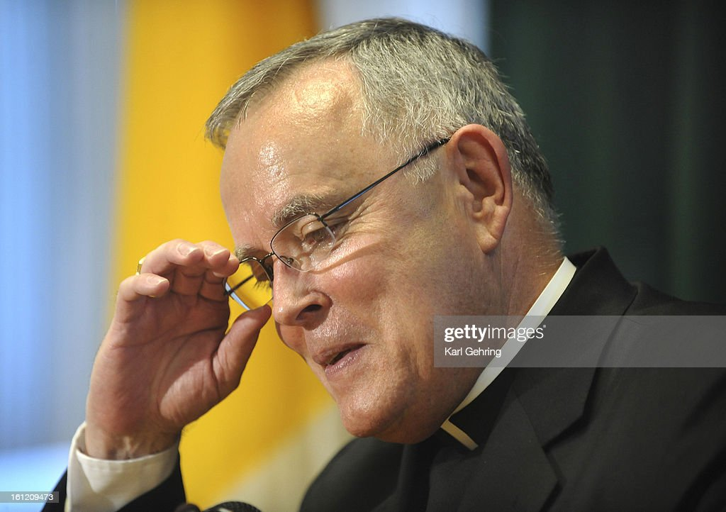 Archbishop Charles Chaput fielded questions from the media Wednesday afternoon, July 20, 2011. After 14 years in Denver Chaput will be taking over the Archdiocese of Philadelphia. Karl Gehring/ The Denver Post : Nachrichtenfoto