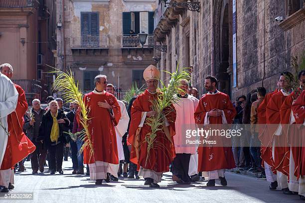 Archbishop Corrado Lorefice celebrates Palm Sunday in Palermo's Cathedral Palm Sunday is a Christian feast that falls on the Sunday before Easter and...