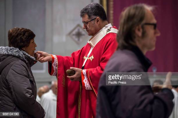 Archbishop Corrado Lorefice celebrates the Mass on Palm Sunday at the Cathedral of Palermo.