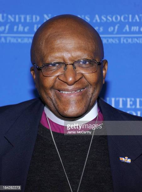 Archbishop Desmond Tutu attends the 2012 Global Leadership Awards Dinner at Cipriani 42nd Street on October 16 2012 in New York City