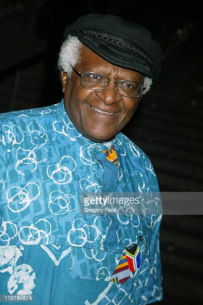 Archbishop Desmond Tutu during 3rd Annual Tribeca Film Festival Vanity Fair Party at The State Supreme Courthouse in New York City New York United...