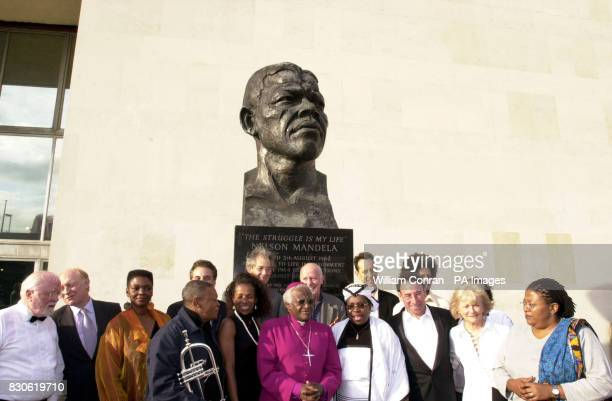 Archbishop Desmond Tutu with invited guests arriving at the Royal Festival Hall, in London, for a gala performance of 'Celebrate South Africa'....