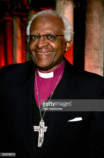 Archbishop Emeritus Desmond Tutu attends a ceremony in which he was honored by the Africa Foundation And Conservation Corporation Africa at The...