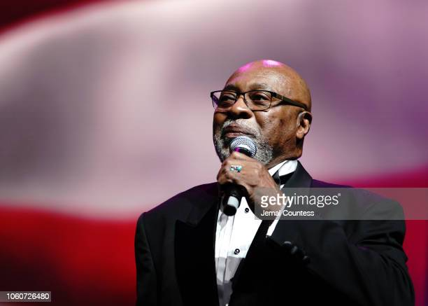 Archbishop George Augustus Stallings Jr appears on stage during Peace Starts With Me concert at Nassau Coliseum on November 12 2018 in Uniondale New...