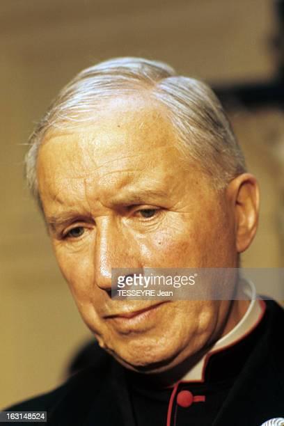 Archbishop Marcel Lefevre A Bishop Of Catholic Fundamentalist En France portrait de monseigneur Marcel LEFEVRE en vêtement écclésiastique