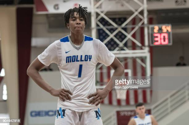 Archbishop Molloy Stanners center Moses Brown during the second half of the Spalding Hoophall Classic high school basketball game between the...