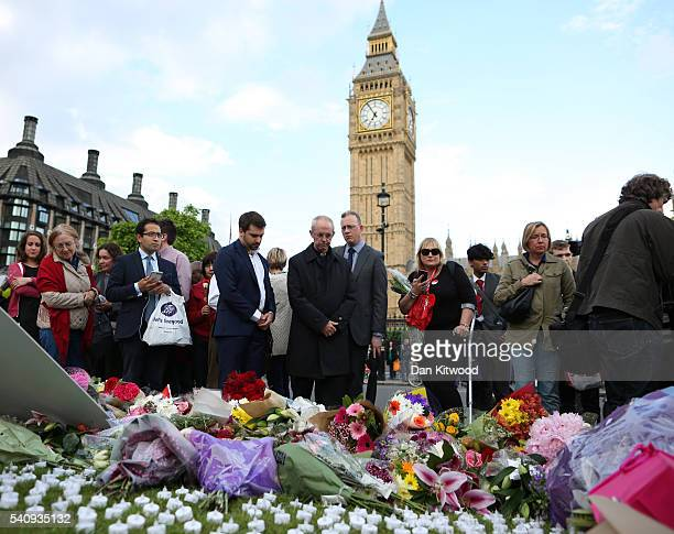 Archbishop of Canterbury Justin Welby attends a vigil in memory of Labour MP Jo Cox on Parliament Square on June 17 2016 in London England The Labour...