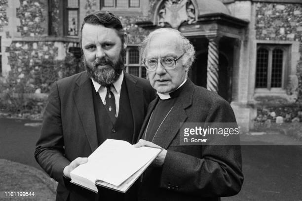 Archbishop of Canterbury Robert Runcie and English humanitarian and author Terry Waite, UK, 29th December 1984.