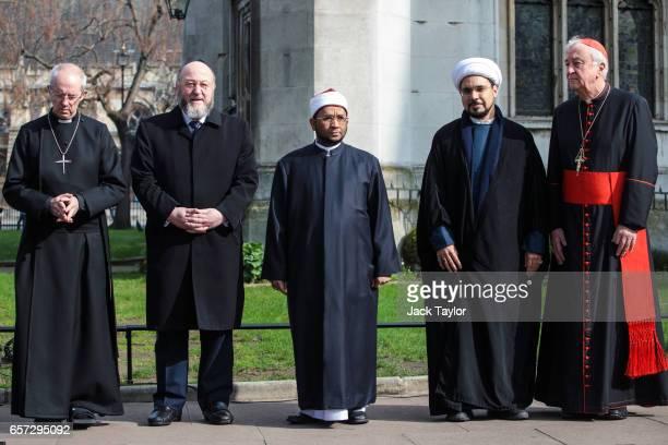Archbishop of Canterbury the Most Rev Justin Welby Chief Rabbi Ephraim Mirvis Sheikh Ezzat Khalifa Sheikh Mohammed al Hilli and Cardinal Vincent...