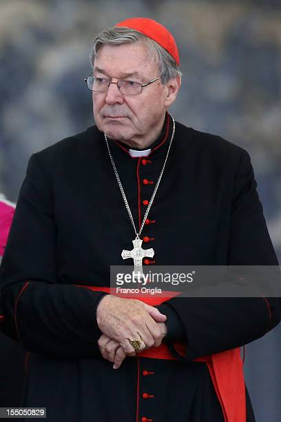 Archbishop of Sydney cardinal George Pell attends the weekly audience held by Pope Benedict XVI in St Peter's square on October 31 2012 in Vatican...