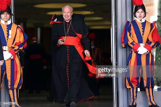 Archbishop of Wien Cardinal Christoph Schonborn attends the Synod of Bishops for The New Evangelization for the Transmission of the Christian Faith...