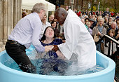 Open-air Easter baptisms