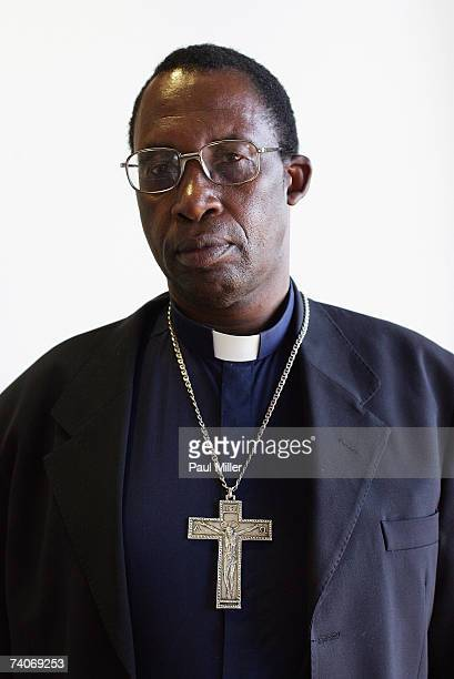Archbishop Pius Ncube the Zimbabwean human rights and prodemocracy activist poses after delivering a lecture at the University of New South Wales on...