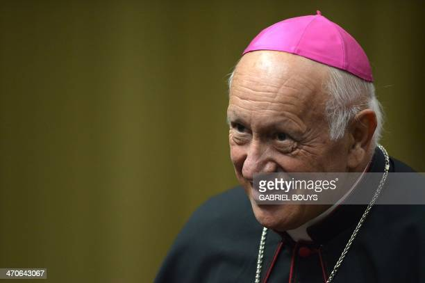 Archbishop Ricardo Ezzati Andrello of Chile attends the consistory to discuss family issues with Pope Francis at the Vatican on February 20 2014...